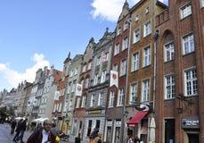 Gdansk, Polen 25. August: Historische Gebäude sehen Stadtzentrum in Gdansk von Polen an Lizenzfreie Stockbilder