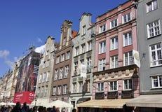 Gdansk, Polen 25. August: Historische Gebäude sehen Stadtzentrum in Gdansk von Polen an Stockfotos