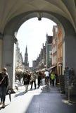 Gdansk, Polen 25. August: Im Stadtzentrum gelegenes Eingangs-Tor in Gdansk von Polen Stockbild