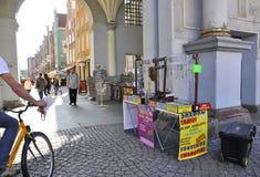 Gdansk, Polen 25. August: Königlicher Weg im Stadtzentrum gelegen in Gdansk von Polen Stockfotografie