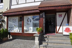 Gdansk, 25 Polen-Augustus: Amber Shop in Gdansk van Polen Royalty-vrije Stock Afbeeldingen