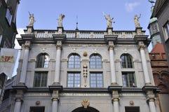 Gdansk, 25 Polen-Augustus: Het Golden Gate de stad in in Gdansk van Polen Stock Afbeelding