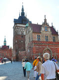 Gdansk, 25 Polen-Augustus: Martelingskamer de stad in in Gdansk van Polen Stock Foto's