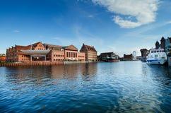 Gdansk Polen: Baltiskt filharmoniskt i Gdansk Royaltyfri Fotografi