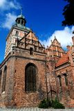 Gdansk, Polen: Kirche von Str stockfotografie