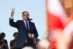 Gdansk Polen, 22 07 2017 - President av Gdansk Pawel Adamowicz royaltyfri foto