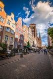 Gdansk, Polen September 19,2015: Bunte Häuser - Wohnungen herein Lizenzfreie Stockbilder