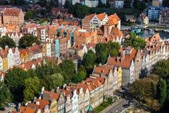 Gdansk, Polen September 19,2015: Bunte Häuser - Wohnungen herein Stockbild
