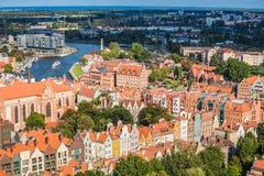 Gdansk, Polen September 19,2015: Bunte Häuser - Wohnungen herein Lizenzfreies Stockfoto