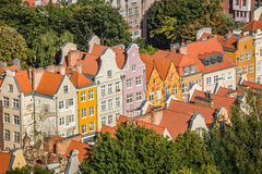 Gdansk, Polen September 19,2015: Bunte Häuser - Wohnungen herein Lizenzfreies Stockbild