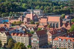 Gdansk, Polen September 19,2015: Bunte Häuser - Wohnungen herein Lizenzfreie Stockfotos