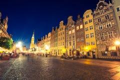 Gdansk, 19,2015 Polen-September: De toren van Stadhuis en leiding Stock Foto