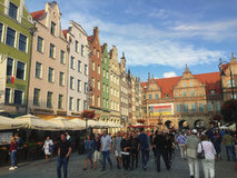 Gdansk Polen Straße Dlugi Targ Lizenzfreies Stockbild