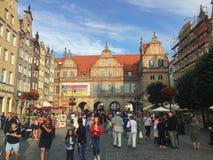 Gdansk Polonia Calle de Dlugi Targ Fotos de archivo
