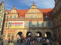 Gdansk Polonia Calle de Dlugi Targ Imágenes de archivo libres de regalías