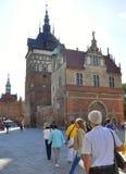 Gdansk, Polonia 25 de agosto: Cámara de tortura céntrica en Gdansk de Polonia Imágenes de archivo libres de regalías