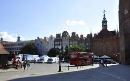 Gdansk, Polonia 25 de agosto: Edificios históricos céntricos en Gdansk de Polonia Fotos de archivo libres de regalías