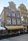 Gdansk, Polonia 25 de agosto: Fachada de los edificios históricos céntrica en Gdansk de Polonia Imagenes de archivo
