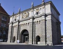 Gdansk, Polonia 25 de agosto: Puerta de la altiplanicie céntrica en Gdansk de Polonia Fotografía de archivo