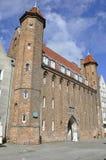 Gdansk, Polonia 25 de agosto: Puerta de Straganiarska (vendedor) en Gdansk de Polonia Imagen de archivo libre de regalías