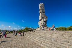 Gdansk, Polonia-septiembre 19,2015: Informan a los visitantes sobre actos imagen de archivo libre de regalías