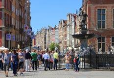 Gdansk, Polonia, viejo mercado de la ciudad Foto de archivo