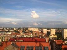 Gdansk Polonia, visión desde la rueda de Amber Sky Imagen de archivo libre de regalías