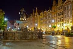 Gdansk por noche Imágenes de archivo libres de regalías