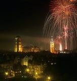 Gdansk por noche Imagen de archivo libre de regalías