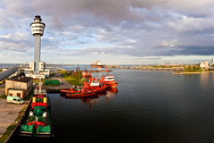 gdansk port Obrazy Stock