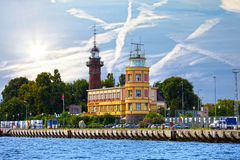 Gdansk port authority building Royalty Free Stock Images