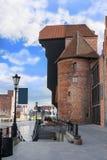 Gdansk port crane Stock Photos