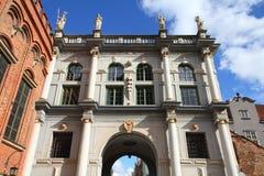 Gdansk - porta dourada Foto de Stock