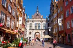 gdansk Puerta de oro Imágenes de archivo libres de regalías