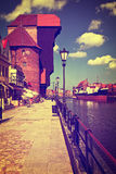Gdansk in retro style Stock Photo