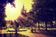 Gdansk in retro style Stock Images