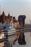 Gdansk of Riverside at dawn Royalty Free Stock Photo