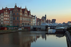 Gdansk of Riverside at dawn Royalty Free Stock Image