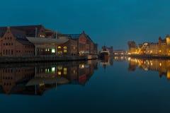 Gdansk of Riverside at night Stock Photo
