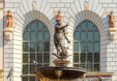 Gdansk. Sculpture of Neptune. Gdansk. Sculpture of Neptune On the central city square Royalty Free Stock Photo