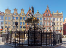 Gdansk. Sculpture of Neptune. Royalty Free Stock Photos