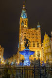 Gdansk. Sculpture of Neptune. Royalty Free Stock Photo