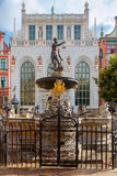 Gdansk. Sculpture of Neptune. Stock Image