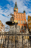 Gdansk. Sculpture of Neptune. Stock Photography