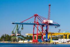 Gdansk. Sea port. Royalty Free Stock Photos