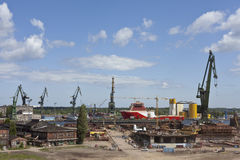 Gdansk Shipyard Royalty Free Stock Photo
