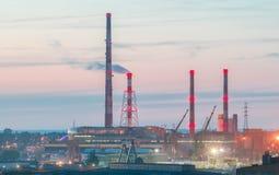 Gdansk shipyard at night. Royalty Free Stock Photos