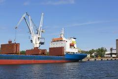 Gdansk Shipyard by Vistula river, the birthplace of polish Solidarity, Gdansk, Poland. GDANSK, POLAND - JUNE 5, 2018 : Gdansk Shipyard by Vistula river, the stock images