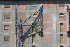 Gdansk Shipyard by Vistula river, old, abandoned post-industrial building, Gdansk, Poland. Gdansk Shipyard by Vistula river, the birthplace of polish Solidarity royalty free stock photo