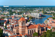 Gdansk Skyline with St. John church Royalty Free Stock Photography